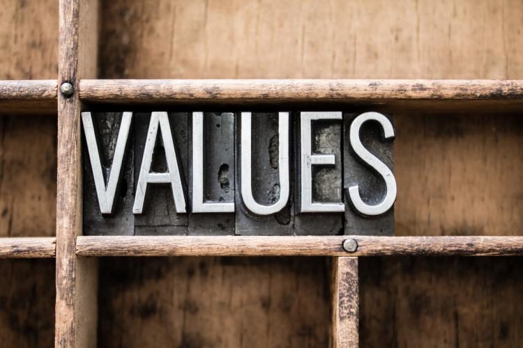Values Vintage Letterpress Type in Drawer