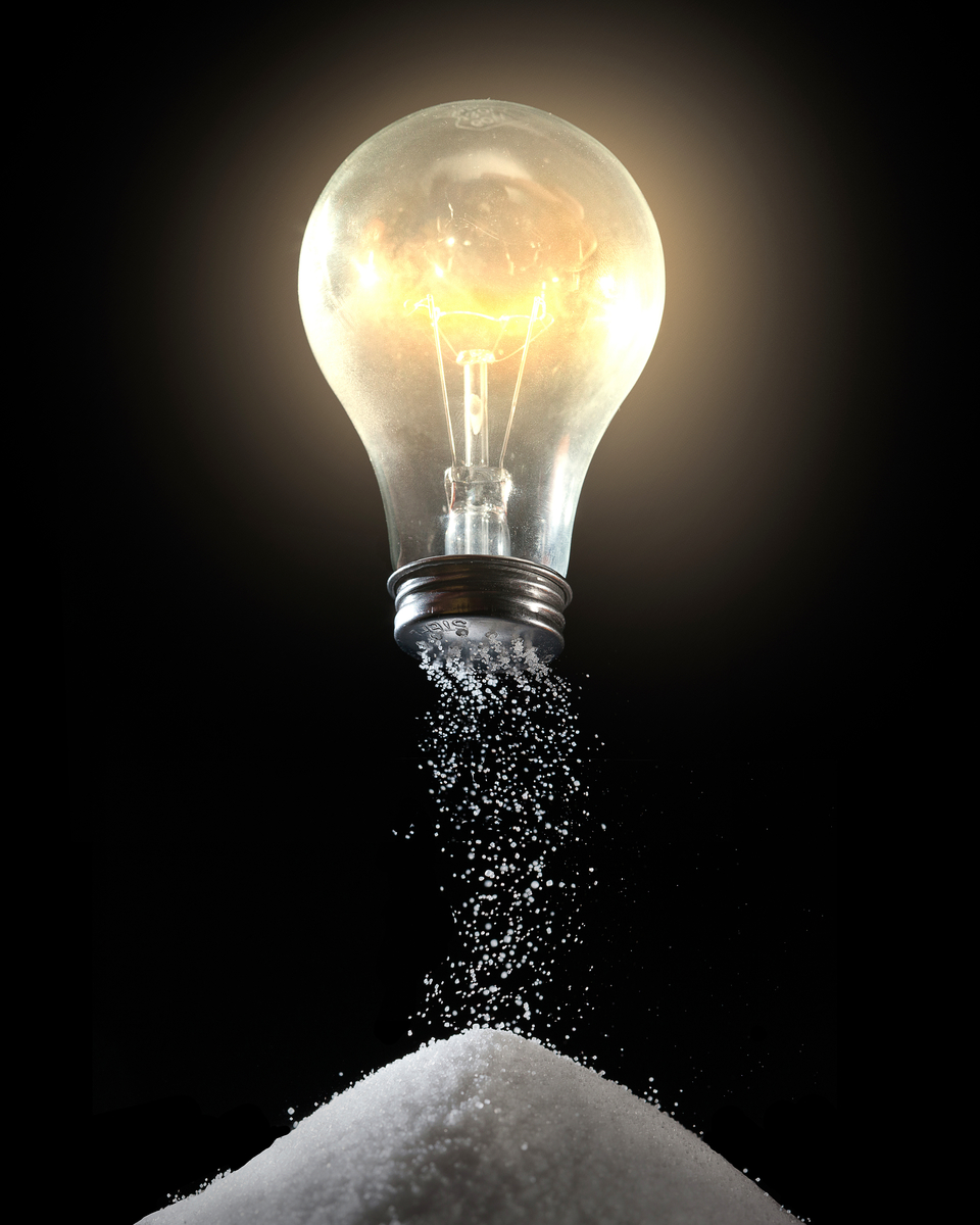 Light bulb and salt shaker