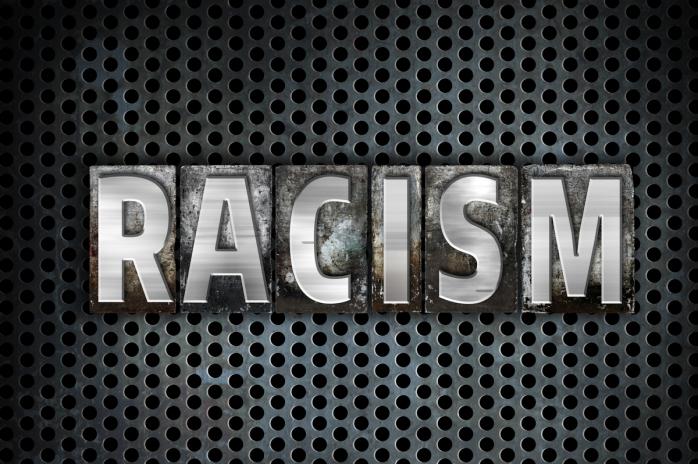 Racism Concept Metal Letterpress Type